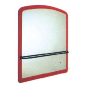 Specchio lungo sagomato con asta orizzontale