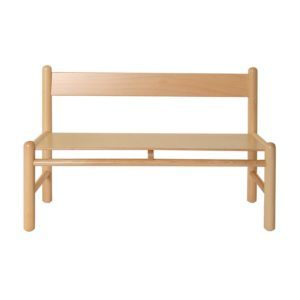 Panca legno con schienale